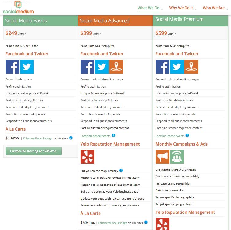 Subscription Social Media Services