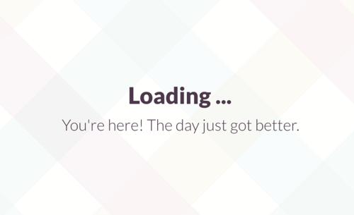 saas ux slack loading message