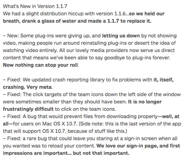 slack mac app fixes copywriting